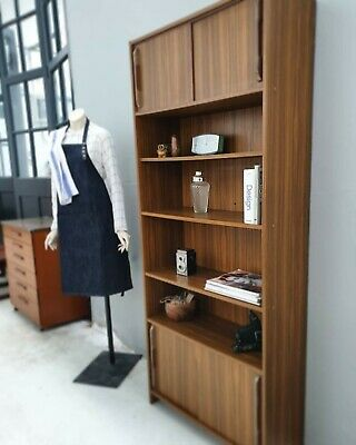 Mid Century G Plan Style Teak Veneer  Bookcase Shelving Delivery Available