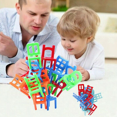18X balance chairs board game funny colorful toys kids educational balance S mmo