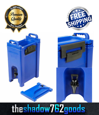 5 Gallon Blue Insulated Hot Cold Catering Beverage Drink Dispenser Coffee Tea