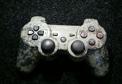 Sony Controller Ps3 Playstation 3 Camo Camouflage Sixaxis Wireless Tested Rare