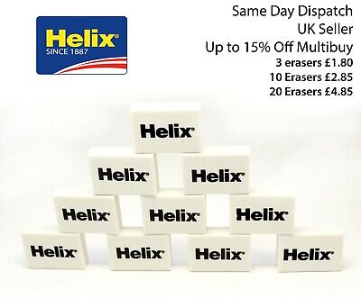 1 - 60 Helix Soft White Pencil Erasers Rubber School Office Art Cheapest