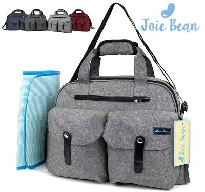 Baby Diaper Bag Tote Large Travel Nappy Changing Mat Messenger for Mom Maternity