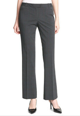 New Calvin Klein Womens Pants 6 Gray Plaid Modern Fit Business Suit Career