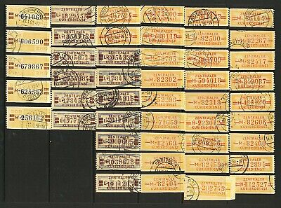 East Germany 1958 specialised range of 10pf and 20pf officials (dienstmar Stamps