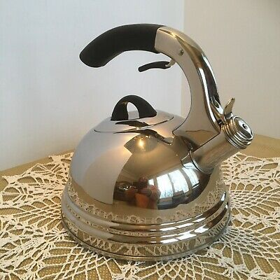 2.7qt Calidad Professional Whistling Stainless Steel Tea Kettle EUC