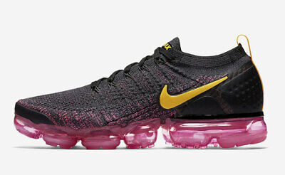 Nike Air Max Vapormax Flyknit 2 GRIDIRON PINK LASER ORANGE BLACK 942842-008