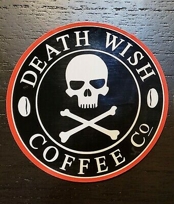 DEATH WISH COFFEE CO SKELETON HAND PATCH BRAND NEW