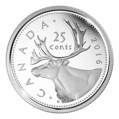 2016 RCM Logo CANADA 25 Cent Coin from Mint Roll UNC