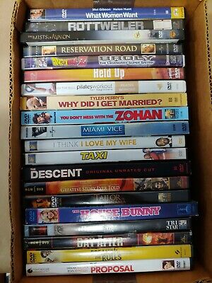 20 Used DVD Movies: Action Horror Comedy Music Thriller Anime War Crime 007