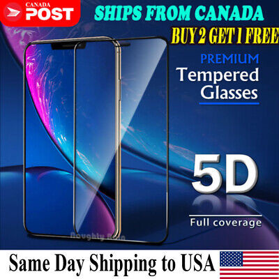 For iPhone 11 Pro Max XR X XS Max 8 7 Plus Tempered Glass Clear Screen Protector