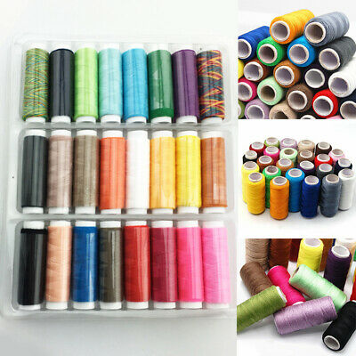 24 Colors Roll DIY Polyester Sewing Thread Box Kit For Home Sewing Machine/AU