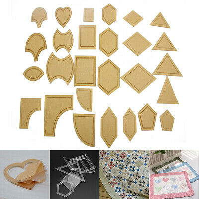 AU/DIY 54PCS Acrylic Quilting Templates Sewing Stencils Patchwork Ruler Sewing