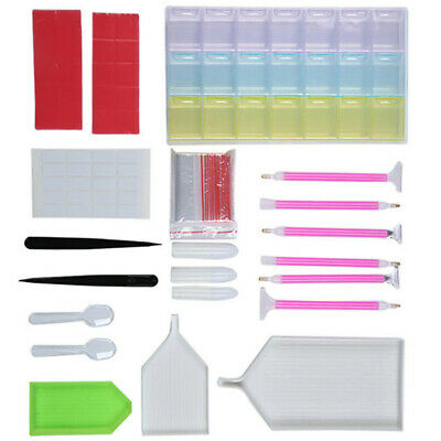 77Pcs 5D Diamond Painting Tools Kit Embroidery Painting Accessories Set CR