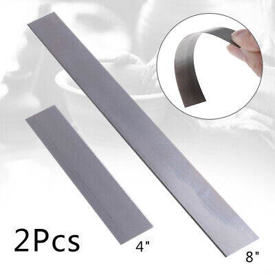 """2Pcs 4"""" 8"""" Stainless Steel Tissue Blade Clay Cutter Jewelry Cutting DIY Tool CR"""