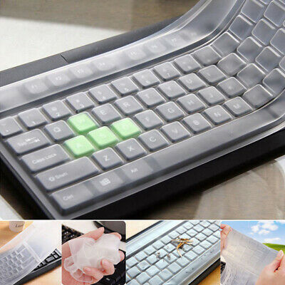 Universal Silicone Clear Computer Desktop Keyboard Cover Skin Protector Film TOP