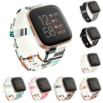 Replacement Printed Silicone Band Strap Best For Fitbit Versa Lite/Versa/Versa 2