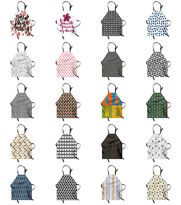 Ambesonne Apron Adjustable Neck for Gardening and Cooking Unisex Vivid Colors