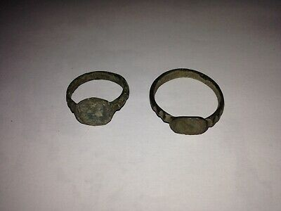 Viking ancient 2 rings 9-11 century AD metal detector finds