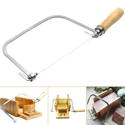 Soap Loaf Wire String Cutter Saw Candle Wax Slice Making + 5 Wire Strings -AU