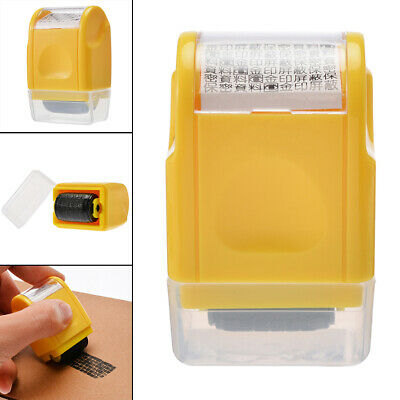 AU Roller Stamp Guard ID Privacy Confidential File Identity Theft Protection CR