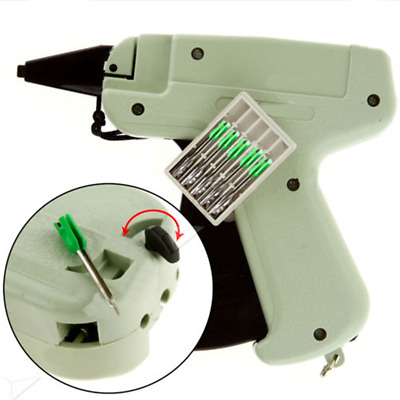 Tagging Gun + 5 Steel Needle +1000 Plastic Tag System Barbs Tag For Clothes CR