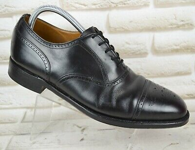 CHEANEY THORNE Mens Black Leather Casual Formal LaceUp Shoes Size 9.5 UK 43.5 EU