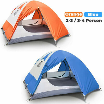 2-3/3-4 Person Double Layer Camping Tent Waterproof 4 Season Folding Tent Hiking