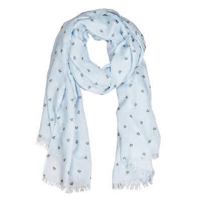 Wrendale Designs Flight of the Bumblebee Scarf - Blue