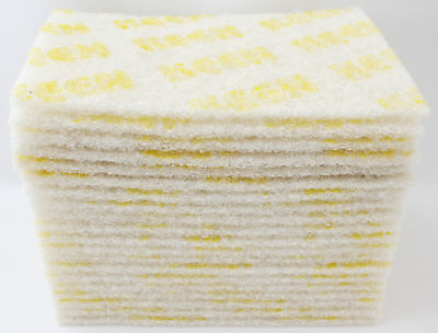 """20 Pack-White Cleaning 6""""x9"""" wet dry Scuff Pad NON ABRASIVE KEEN Brite #55049"""