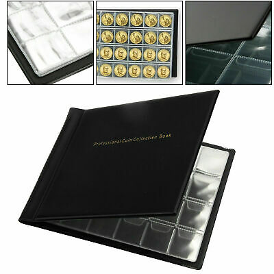 240 Coin Collection Album Money Storage Case Holder Coin Collecting Book UK