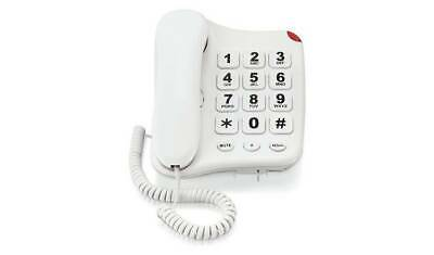 Simple Value Big Button Corded White Telephone - Single 6189822 R