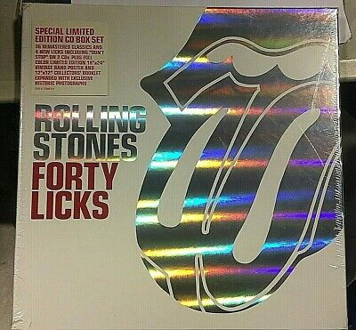 The Rolling Stones ‎– Forty Licks - 2 CD LTD ED 12X12 booklet+Mouse -SEALED MINT