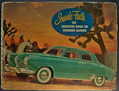 1951 Studebaker Inside Facts Brochure Commander Champion Starliner Nice Original