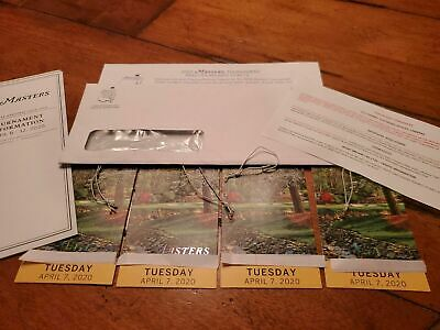 4 MASTERS Augusta 2020 Ticket TUESDAY Badge 4/7 TUESDAY Full Day IN HAND