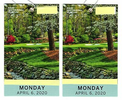 2 MASTERS Augusta 2020 Ticket MONDAY Badge 4/6 MONDAY Full Day IN HAND