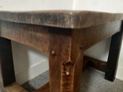 Antique Arts & Crafts Oak Refectory / Dining Table