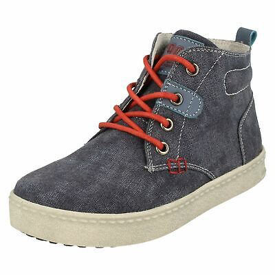 Boys JCDees Ankle Boots Denim Lace Up