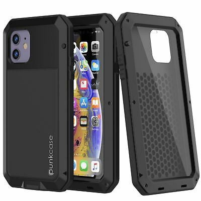 iPhone 11 Metal Case, Heavy Duty Military Grade Armor Cover [shock proof] Full B