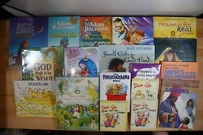 BIBLE STORIES & CHRISTIAN Books for Children! HC & PB & Board Book Lot of 18!