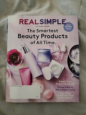 Real Simple Magazine March 2020 Brand New Smartest Beauty Products Of All Time