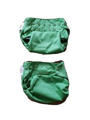 Lot of 2 Flip Cloth Diaper Covers by bumGenius green nice