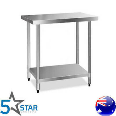 Giantz 430 Stainless Steel Kitchen Bench Commercial Food Prep Table 1219x610mm