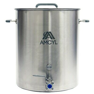 15 Gallon Stainless Steel Brew Kettle, Lid, Valve & Accessory Port - Ships Free!