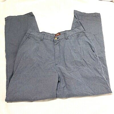 riders casuals womens blue weaved printed career pants size 14
