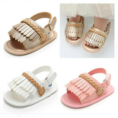Fashion New Baby Girl Crib Shoes Infant Child Faux Leather Summer Sandals 0-18 M