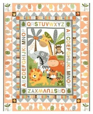 Baby Quilt Panel * Jungle Friends Scenic * New * Free Post * Cute *