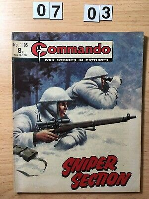 """Commando Comic # 1105 from 1977  """"Sniper Section""""  Very Good Cond"""