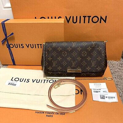 ❤️*NEW AUTH* LOUIS VUITTON Favorite MM Monogram Crossbody Bag 2020 FULL SET!