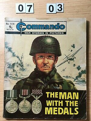 """Commando Comic # 1178 from 1977  """"The Man With The Medals""""   Good Cond"""