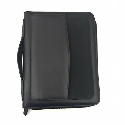 Day-Timer Briefcase Planner Black 7 Ring Binder 8 X 10 Uses Pages 5.5 x 8.5